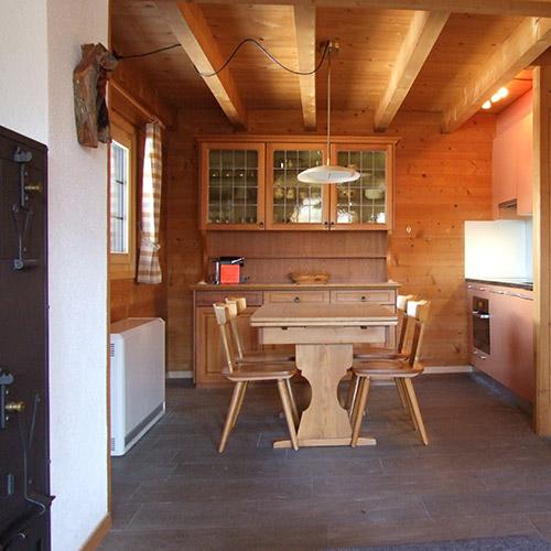 Essplatz und Küche im Obergeschoss